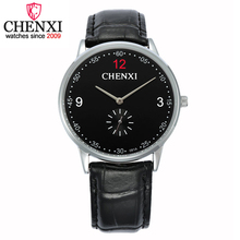 CHENXI Genuine New Discounted Price Promotions Watches Male Business Quartz Watch Men Leather Wristwatch Gold Relogio Masculino