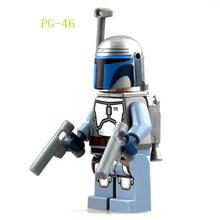 PG46 Building Blocks Star Wars 7 The Force Awakens Green Jango Fett Dolls Bounty Hunter Boba Fett Bricks Children Gift Toys