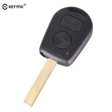 KEYYOU 2 Buttons Car Key Case Shell Cover Remote Blank Key Replacement For BMW E38 E39 E36 Z3(China)