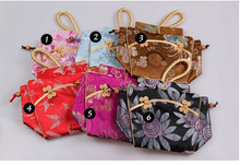 Suzhou silk damask tote handbag bride bag dinner party vintage women's handbag cheongsam handbag 10pcs/lot