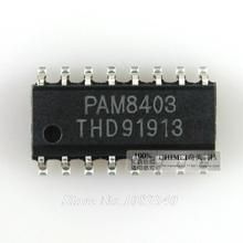 10PCS free shipping PAM8403DR SOP16 PAM8403 stereo audio amplifier IC chip 100% new original(China)