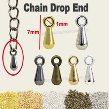 200pcs/lot NICKLE FREE Extension Chain Drop End to attach on the chains for DIY Jewelry Necklace Bracelet Finding part Accessory(China)