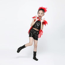 New Chinese Dance Costumes Kids Girls Jazz Dance Modern Street Dance Performance Sequin Kindergarten Stage Clothing