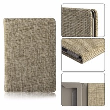 Ultra Slim For Kindle Paperwhite Case Cover Imitation Linen Ereader Leather Tablet Shell protector Ebook Holster Multicolor(China)