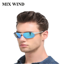 Best  Sunglasses Polarized 2017 Cool Military Glasses for Police Biker Driving Aluminum Magnesium Alloy Frame