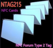 50pcs NFC NTAG215 13.56MHz 14443A NFC Forum Type 2 Tag Smart Card RFID Cards Tags for NFC Phone