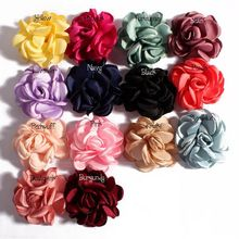 30pcs/lot14colors 6Cm Vintage Burn Eage Hair Rose Flowers For Children Hair Accessories Artificial Fabric Flowers For Headbands(China)