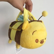 1pcs Original Tsum Tsum Plush Toys Winnie Honey Bee Pouch Bumble Bee Carrier Bags Piglet Eeyore Tigger Bear Soft Toys