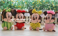 22 cm fruit loves Micky and Minnie toy lovely mouse doll baby gift w4496(China)