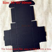 100pcs/lot-9.5*9.5*3cm Black Aircraft Cardboard Boxes, Handmade Gift/ Jewelry/ Snack Packing Boxes