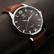Yazole Brand Luxury Quartz Watch Men Famous Male Clock Leather Sports Watches Business Fashion Casual Dress Wrist Watch Cheap(China)