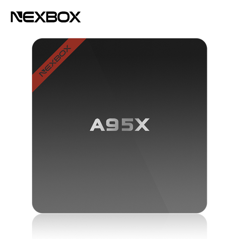 Original NEXBOX A95X Android TV Box Set-top Boxes IPTV Media Player Amlogic S905X Quad Core Android 6.0 4K HD TV Box(China)