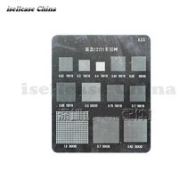 Multi-function 12 in 1 IC Chip BGA Stencil Direct Heating Reballing Tin Ball Soldering Net for Apple iphone Samsung Mobile phone