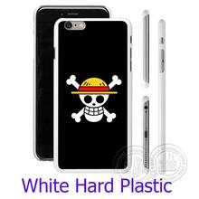 One Piece Straw Hat Pirate Flag White Phone Case for iPhone 5S 5 SE 5C 4 4S 6 6S 7 Plus Cover ( Soft TPU / Hard Plastic )