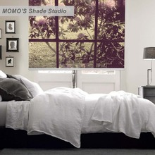 MOMO Thermal Insulated Blackout Fabric Scenic Custom Painting Window Curtains Roller Shades Blinds,PRB set383-386