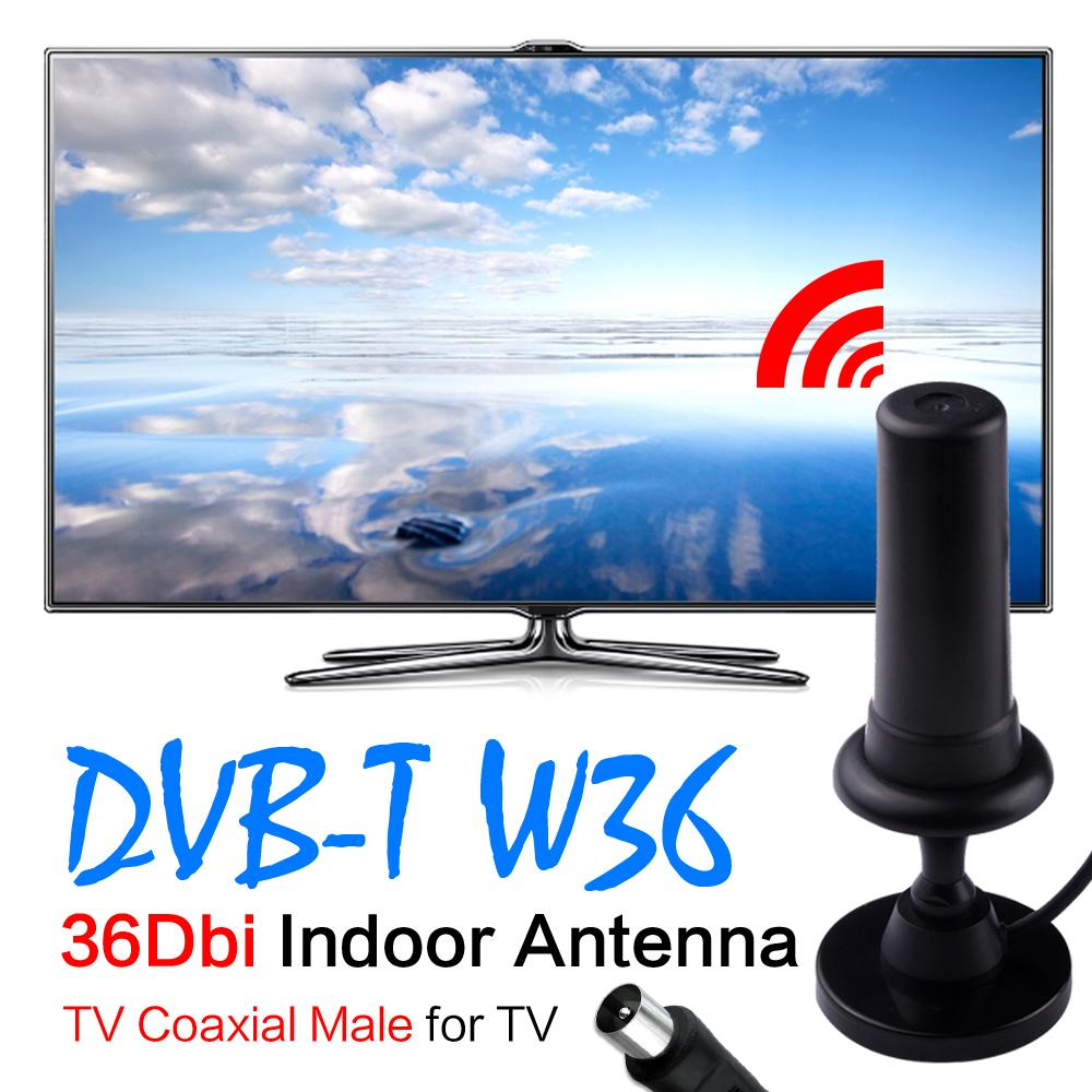 YCDC Cheap Sale+Hot HD Gain Black Digital DVB-TW36 36dBi 470-862MHz Booster Indoor Antenna For HDTV digital tv signal amplifier(China (Mainland))