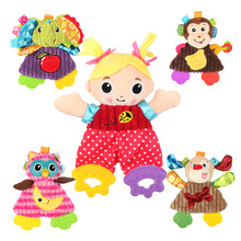 Cute Cartoon Girl Animal Baby Rattles Infant Soft Ring Paper Playmate Doll Teether Development Toddler Toys Christmas Gift Toys