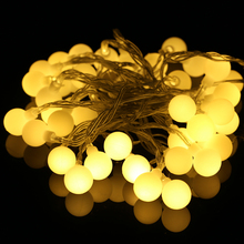 2M/4M RGB Warm White Ball String Lights AAA Battery Operated for Garden Halloween Wedding Christmas Flashing Home Decoration(China)