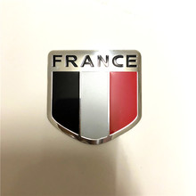 Car 3D Metal German France United States American Flag Map Sticker Badge Emblem Car Sticker For All Universal Car Styling(China)