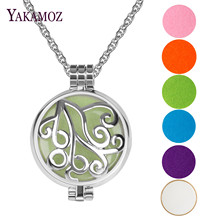 Aromatherapy Luminous Necklace Perfume Diffuser Locket Pendant Necklace For Best Friend DIY Jewelry 5 Felt Pads 2 Luminous Pads