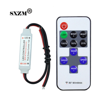 SXZM 1piece  RF wirelss led dimmer DC5-24V led control dimmer for single color led strip single color
