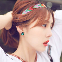New High Quality Vintage Bohemian Ethnic Embroidery Flower Headband For Womens &Girls Elastic Hair Band Retro Hair Accessories(China)