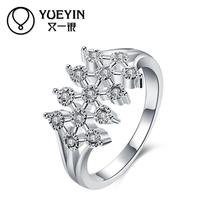 Fashion Silver plated finger rings for women Engagement rings bague argent Vintage High Quality Luxurious Wholesale Retail(China)