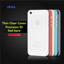 Hot sell 0.3mm Ultra Thin Case Slim Matte Transparent  Cover  Case  For iPhone 5  5s SE 6 6S 7 7PLUS mobile phone bag phone case