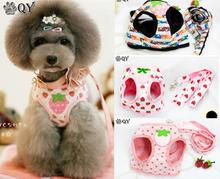 Novelty Pet New Product Fashionable Most Comfortable Cute Cotton Pet Puppy Strawberry Small Dog Vest Harnesses Manufacturer