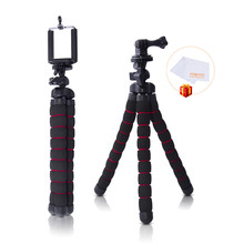 fosoto Medium Octopus Flexible Digital Camera Stand Gorillapod Monopod Mini Tripod with Holder for Gopro hero 2 4 3+ 3 and phone