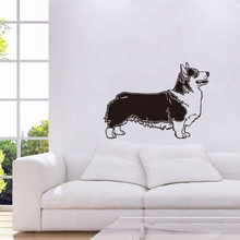 Pembroke Dog Vinyl Wall Sticker Pet Shop Funny Wall Paper Removable Kids Bedroom Art Mural Decals Home Decor