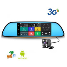 Car DVR 7 Inch Android 5.0 FHD 1080P Auto Bluetooth Mirror Video Recorder Rearview Mirror 3G Dual Lens Rearview Camera GPS WIFI(China)