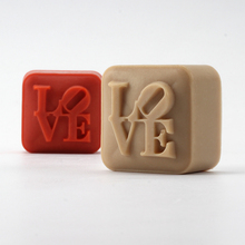 Nicole Silicone Soap Mold for Natural Handmade Square with Love Characters Chocolate Candy Valentine Gift Mould(China)