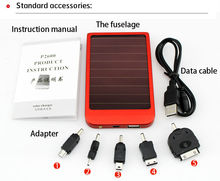 2600 MAH solar panel portable universal Mobile solar battery Charger for Smart Phone/IPOD and Ipad