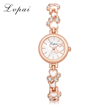 Lvpai Top Brand Fashion Casual Rose Gold Luxury Watch Ladies Diamond Wristwatch Dial Creative watch women Quartz Clock LP181
