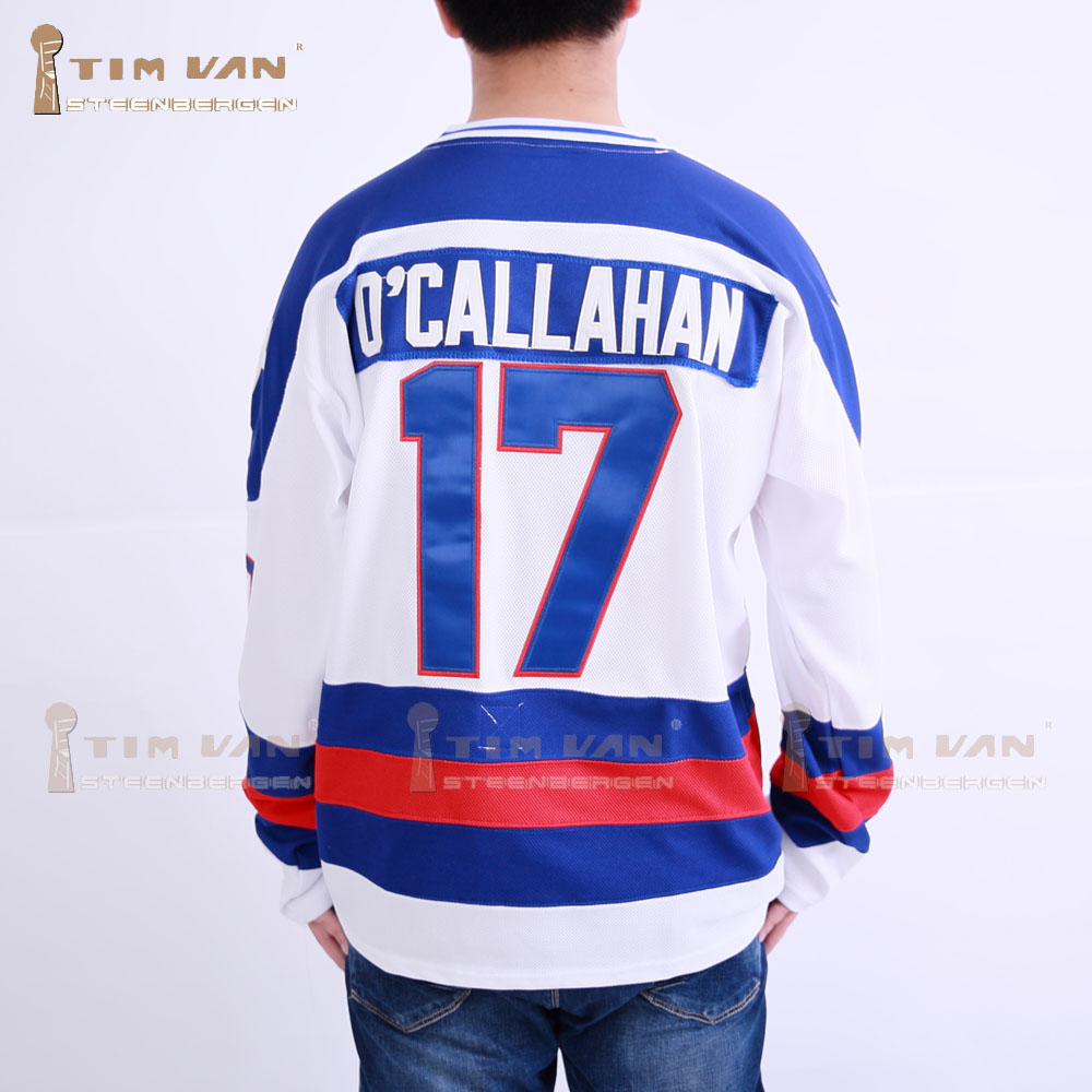 TIM VAN STEENBERGE 1980 Miracle On Ice Team USA  Jack OCallahan 17 Hockey Jersey-White<br><br>Aliexpress