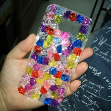 Lady Design Diamond Summer ice Crystal Clear Case for Samusng S3 S4 S5 S6 S7 Edge S8 Plus Note 3 4 5 Bling Shiny Case