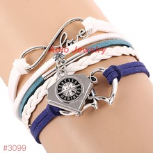 MLB Infinity Love Seattle Mariners Baseball Team Bracelet 2016 New Leather Bracelet Fans Jewelry 6Pcs/Lot ! Free Shipping!