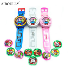 [AIBOULLY] 2017 Anime Peripheral Yo-Kai Watch DX Yokai Watch Kids Toy With 3 Medals & Music Educational Toys Best Gifts 871(China)