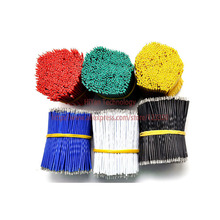 (200pcs/lot) 5cm 50mm 24AWG Colors Double Tinned Tin Plated Electronic Copper Wire Jumper Wire Cable Easy to Welding