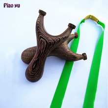 Original Piao Yu Hunting Wood Slingshot Catapult Rubber Band Outdoor Shooting Slingshots Crafts Collection of High Quality(China)