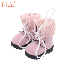 Tilda 1/6 Blyth Doll Boots Shoes For Blythe Doll,Fashion 3.2cm Mini Winter Style Leather Shoes for Blyth Toys Dolls Accessories(China)