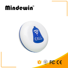 10 PCS Mindewin Restaurant Pager M-K-1 Wireless Calling Service Call Button Table Transmitter 433MHz Pager Waterproof Botones(China)