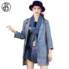 FS Fashion Cashmere Scarf Embroidered Cat Pattern Winter Scarves Women Thick Brand Warm Blanket Shawl And Wraps Foulard Echarpe(China)