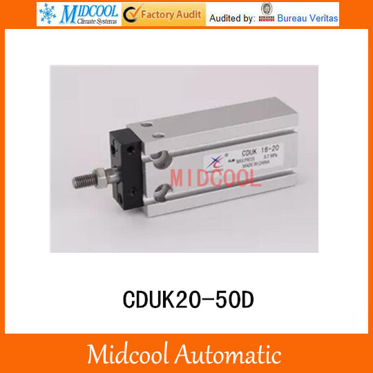 Multi-position free installation of the cylinder CDUK20-50D bore 20mm stroke 50mm<br>