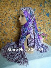 m1507 wholsale fashion new design Crushed voile shawl Mix colors fast delivery long scarf hijabs(China)