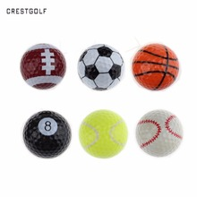 CRESTGOLF 6pcs Per Pack Novelty Sports Practice Golf balls ballen Two Layer Golf pelotas Assorted Golf Ball Driving Range Ball