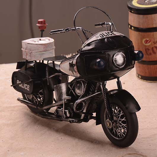 Classic Ironwork Vintage Harley Policeman Motorcycle Collection Showcase Craftwork Handmade Policeman Motor Bike Model<br><br>Aliexpress