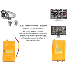 1.3GHz 6000mW Wireless Audio & Video Transmitter Receiver AV Sender Anti Interference 800m Transmission Distance 4 Channels