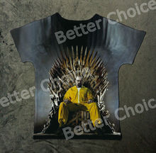 Track Ship+New Vintage Retro Fresh T-shirt Top Tee Breaking Bad Walter White Win Game of Thrones Sword Seat 1052(Hong Kong)